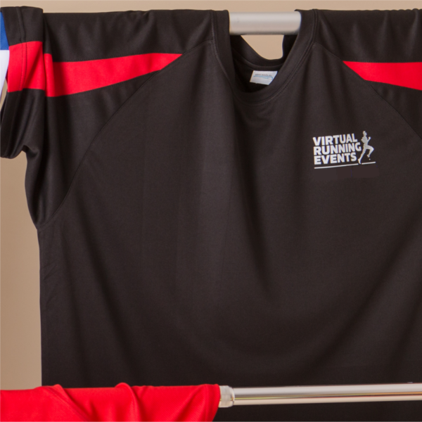 mens virtual running events t-shirt